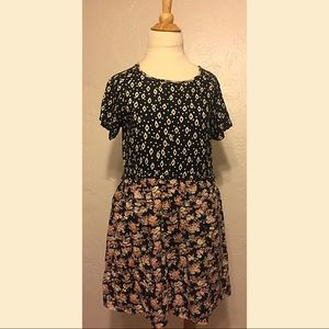 Angie Floral/Tribal Babydoll Dress
